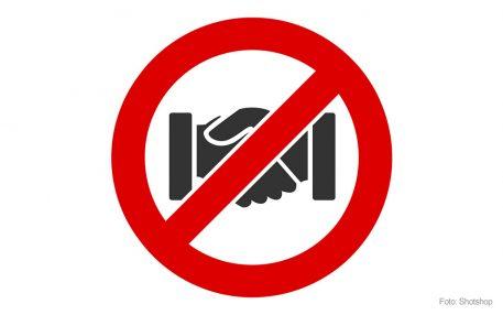 Patienteninfo: Winken statt Händeschütteln